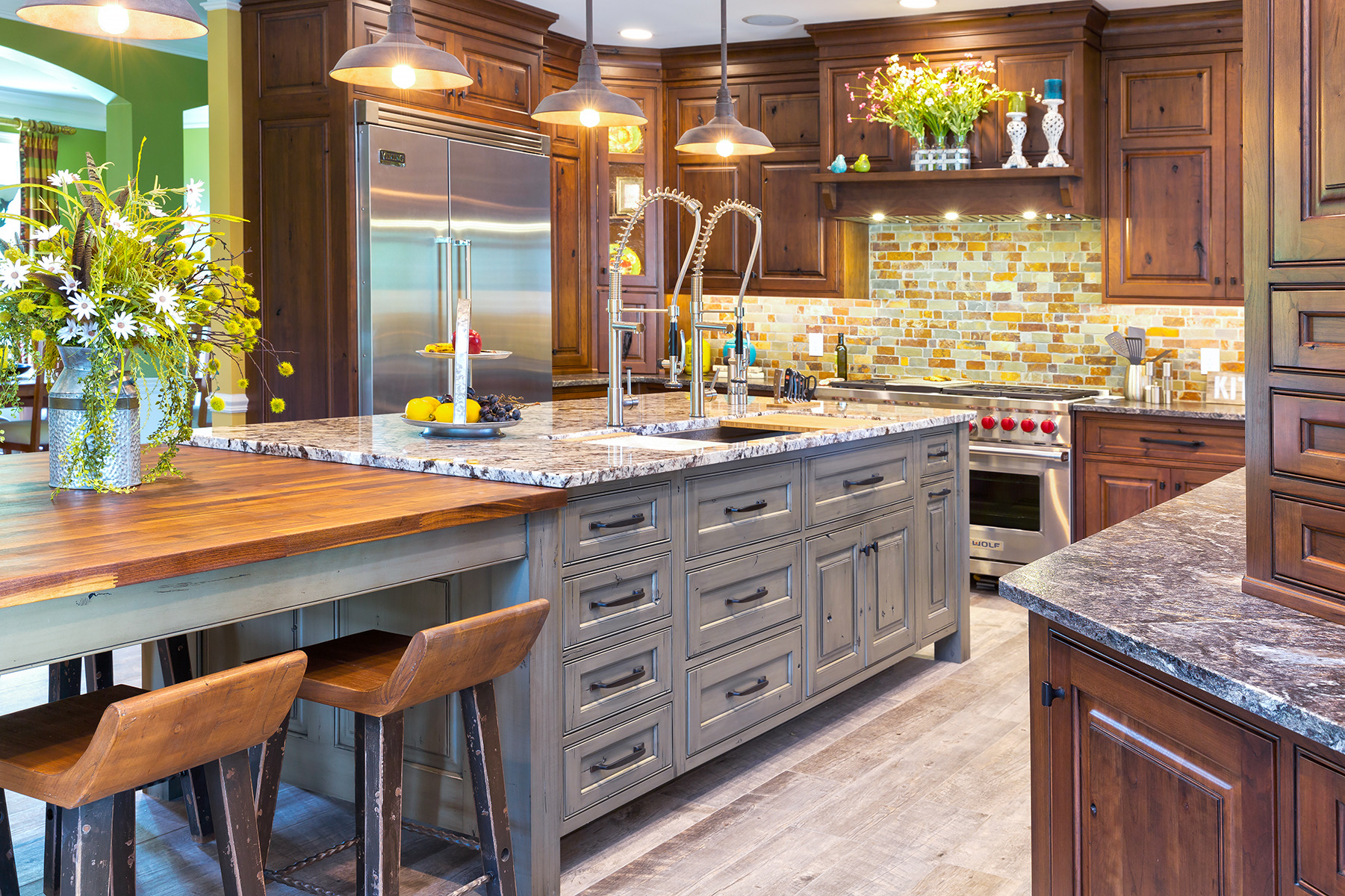 Cherry Kitchens - Wood Hollow Cabinets