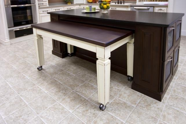 Pull Out Kitchen Table cabinet accessories - wood hollow cabinets